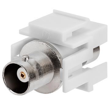 Keystone Jack - Modular BNC White