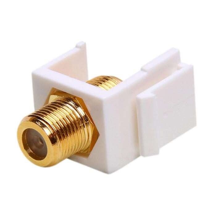 Keystone Jack-Modular F Type (Gold Plated) White