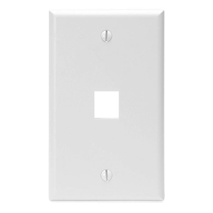 Keystone Jack Wall Plate With One Hole Standard Keystone - White