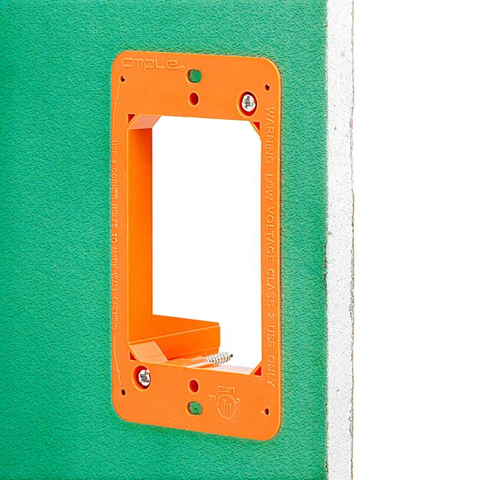 Low Voltage Bracket on the Wall