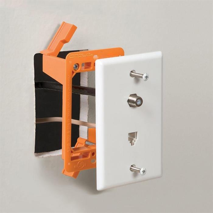 Low Voltage Mounting Bracket 1 Gang Multipurpose Drywall Mounting Wall Plate Bracket – Single Gang