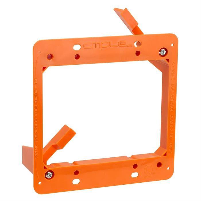 Low Voltage Mounting Bracket 2 Gang Multipurpose Drywall Mounting Wall Plate Bracket – Dual Gang