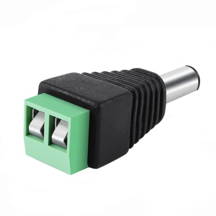 Male 2.1x5.5mm DC Power Plug Jack Adapter Connector for CCTV