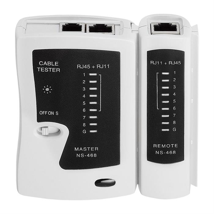 Multi-functional LED Network Cable Tester for BNC, RJ11, RJ12 and RJ45
