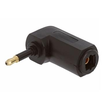 Optical Toslink Jack to Mini Plug Angled Adapter