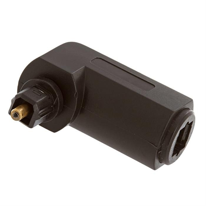 Optical Toslink Jack to Toslink Plug Angled Adapter