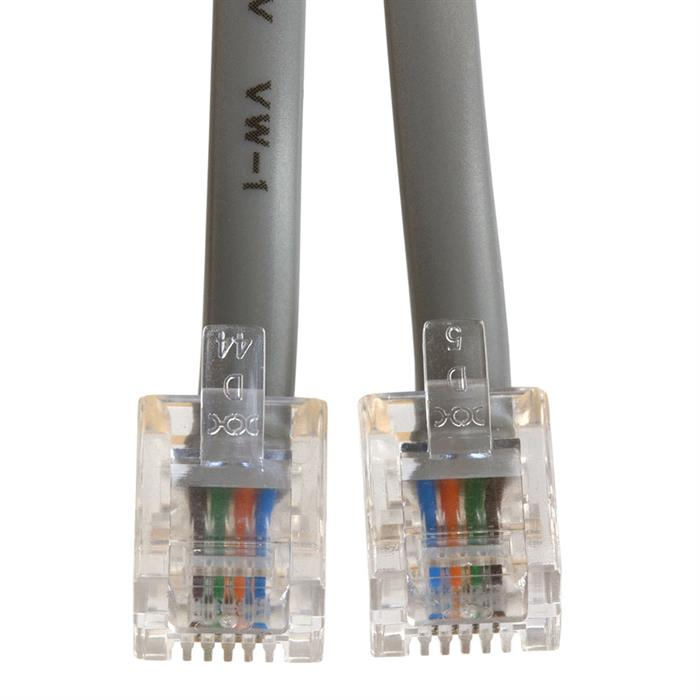 Phone Cable, RJ11 (6P4C), Reverse - 14 Feet (Voice)