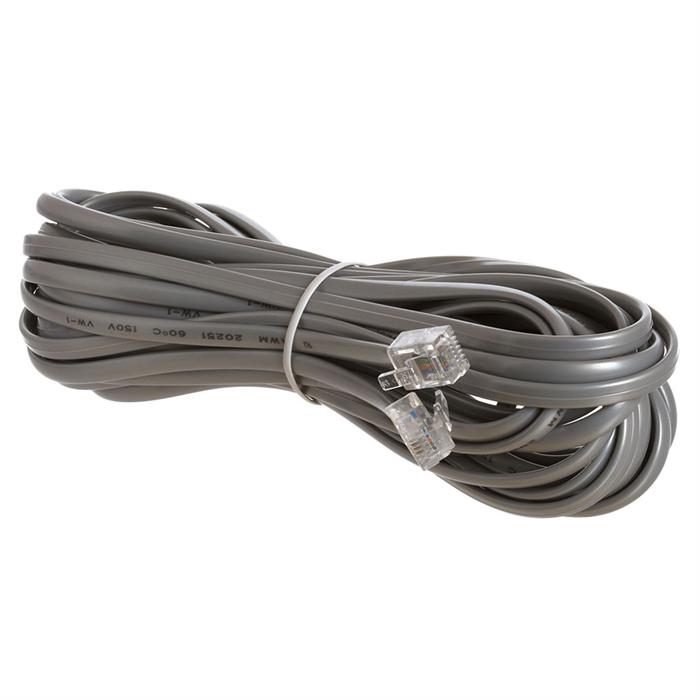 Phone Cable, RJ11 (6P4C), Straight - 25 Feet (Data)