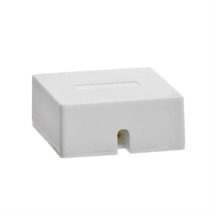Phone Surface Mount 6P4C - 1port - WHITE