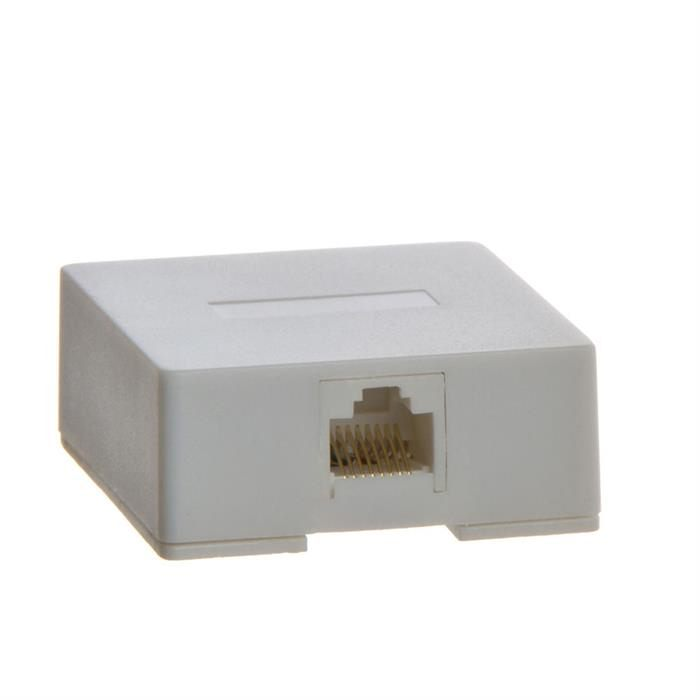 Phone Surface Mount 8P8C - 1port - WHITE