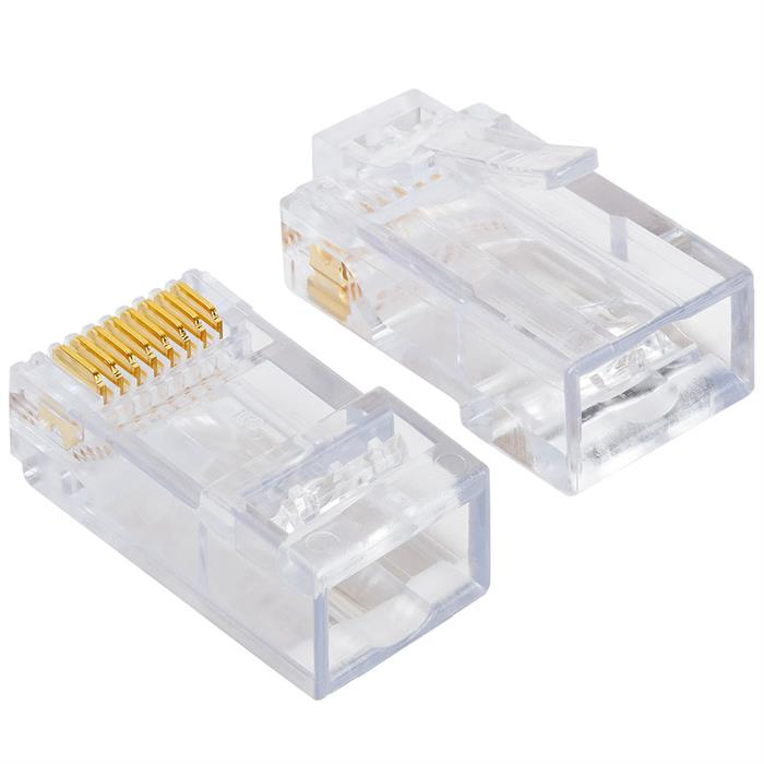Platinum Tools 100010C EZ-RJ45 Cat6 Connectors, 50 Pc. Clamshell