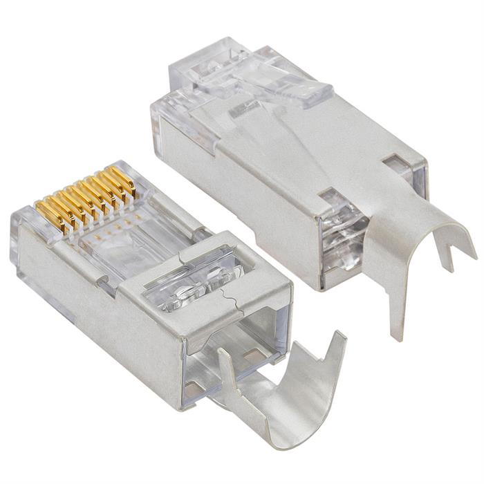 Platinum Tools 100023C EZ-RJ45 Shielded Cat5e/6 Connector 10 Pc. Clamshell
