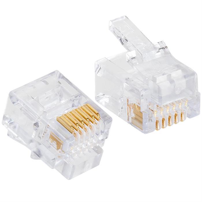 Platinum Tools 100026C EZ-RJ12/11 Connectors, 50 Pc. Clamshell