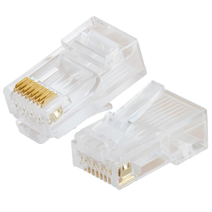 Platinum Tools 106168J RJ45 Cat5e High Performance, Round-Solid 3-Prong - Jar of 100