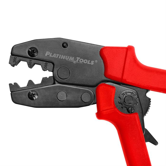 "Platinum Tools 16506C 9"" Ergo Crimp Tool for Coax BNC/TNC F Type Connectors"