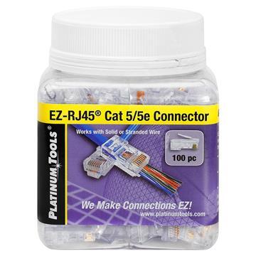 Platinum Tools 202003J EZ-RJ45 Cat5/5e Connector - Jar of 100