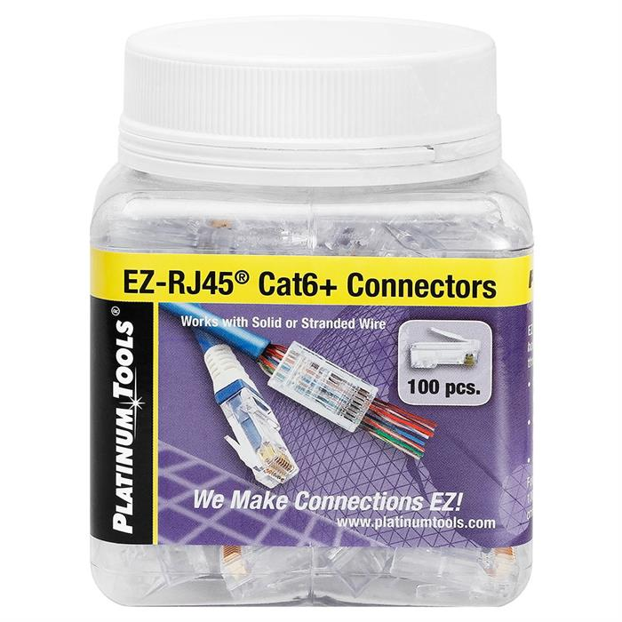 Platinum Tools 202010J EZ-RJ45 Cat6 Connector - Jar of 100