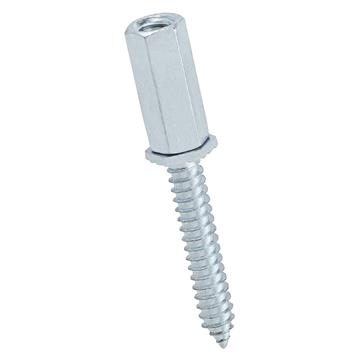 "Platinum Tools JH950 Threaded Rod 1/4-20 Male Coupler w/ 1 1/2"" Sharp Point Screw"