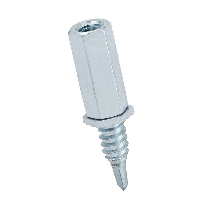 "Platinum Tools JH951-100 Threaded Rod 1/4-20 Male Coupler w/ 3/4"" Self Drill Screw"