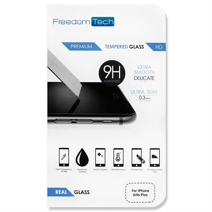 Premium Real Tempered Glass Screen Protector For Apple iPhone 6/6s Plus