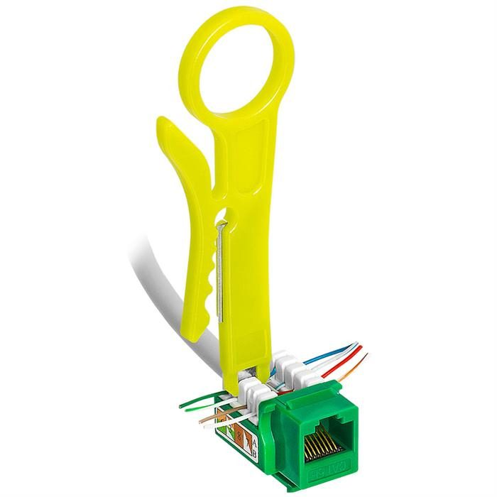 Punch Down and Wire Stripper for all Voice Video and Data Cables