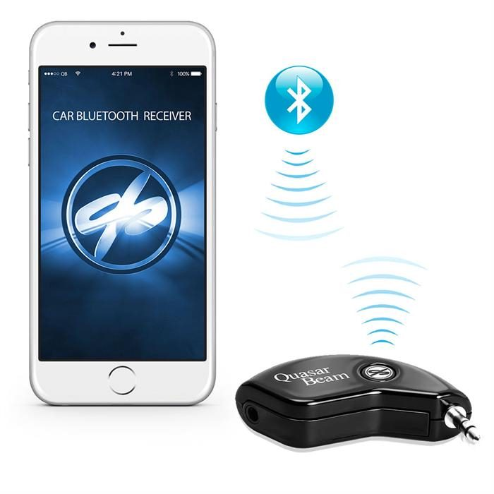 QuasarBeam Bluetooth Car Receiver 3.0 Wireless Audio Music Streaming