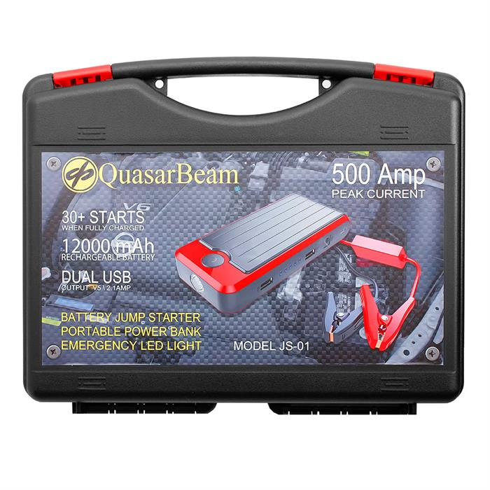 QUASARBEAM PORTABLE CAR JUMP STARTER POWERBANK 12000mA REAL CAPACITY