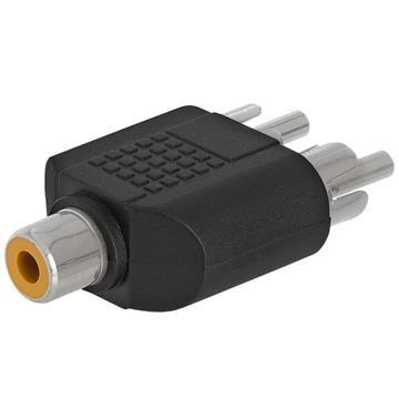 RCA Jack to 2xRCA Plug Adapter - Straight