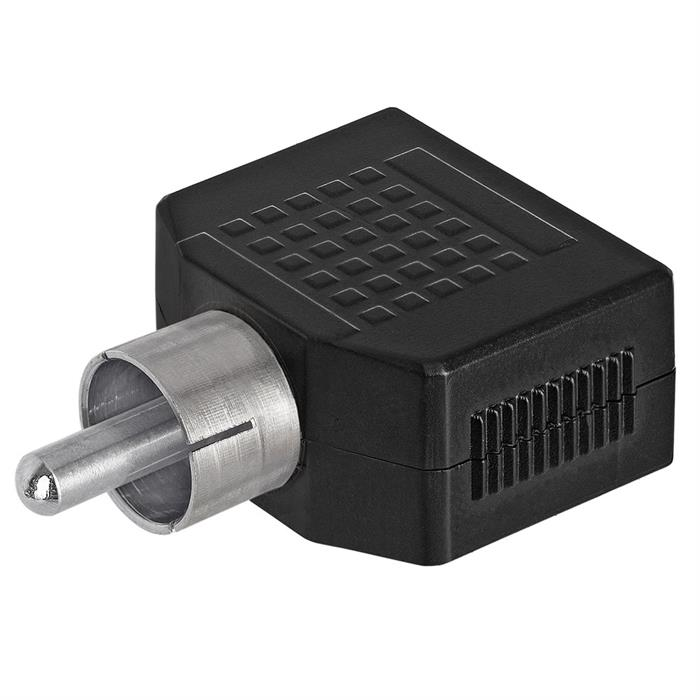 RCA Plug to 2x3.5mm Mono Jack Adapter