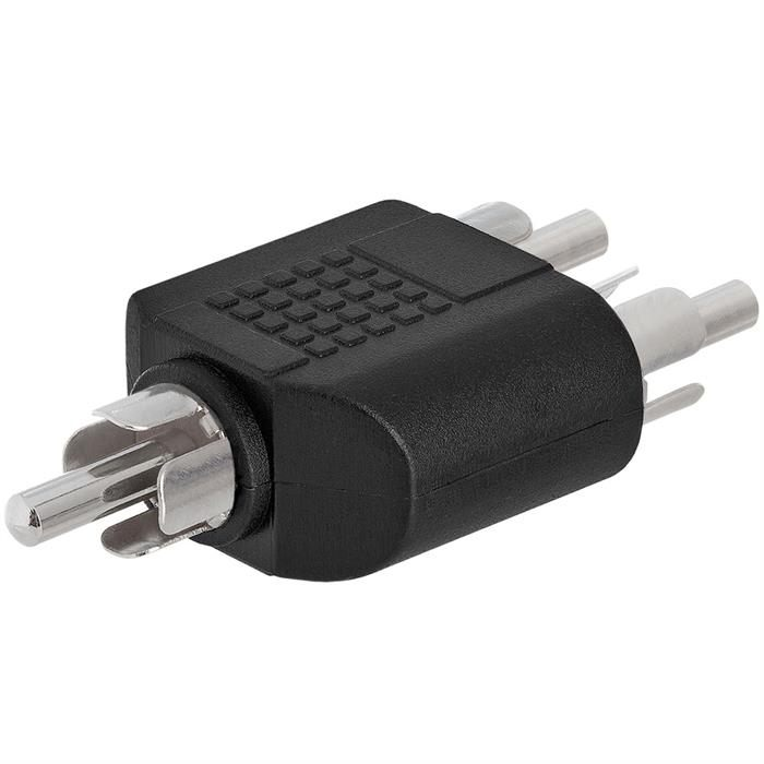 RCA Plug to 2xRCA Plug Adapter - Straight