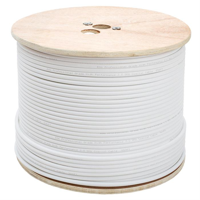 RG6 Standard Dual Shield Cable - 1000 Feet White