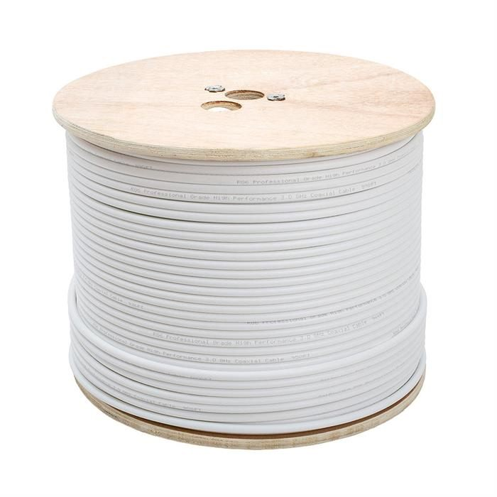 RG6 Standard Dual Shield Cable - 500 Feet White