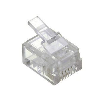 RJ11 Modular Pugs 6P4C Solid - 50 Pack