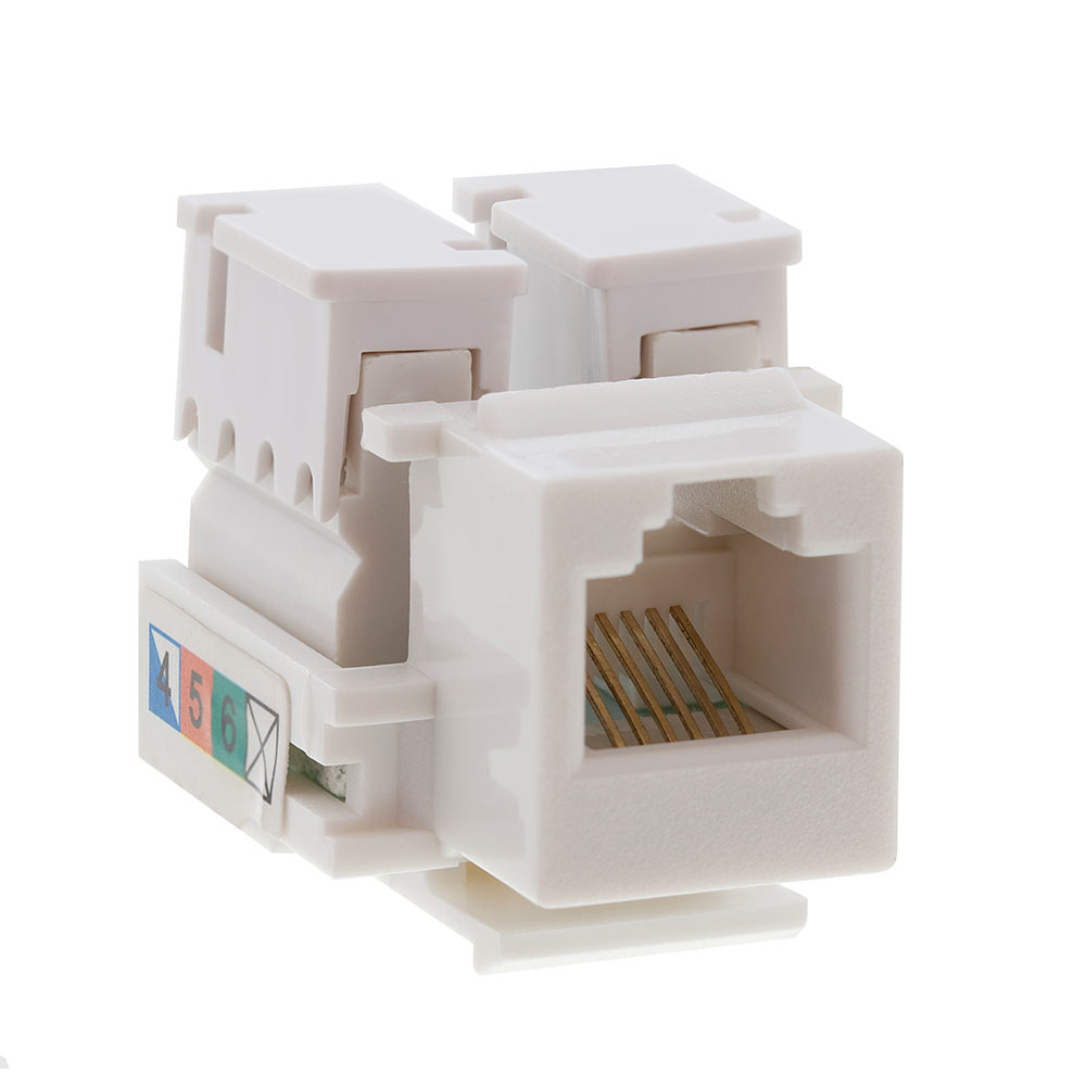 Rj12 Jack Wiring Diagram Detailed Schematic Diagrams For Pools Keystone White To Db9 Female Modular Adapter