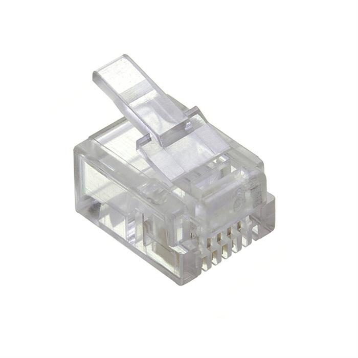 RJ12 Modular Pugs 6P6C Solid - 50 Pack
