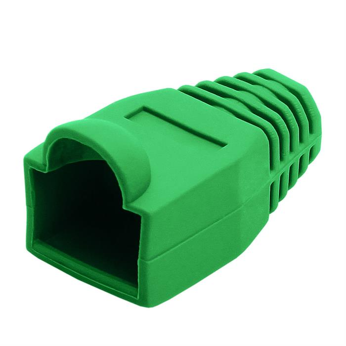 RJ45 Color Coded Strain Relief Boots 50pcs - Green