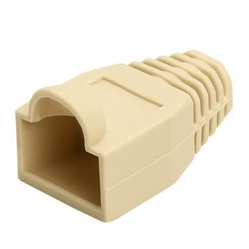 RJ45 Color Coded Strain Relief Boots 50pcs - Ivory