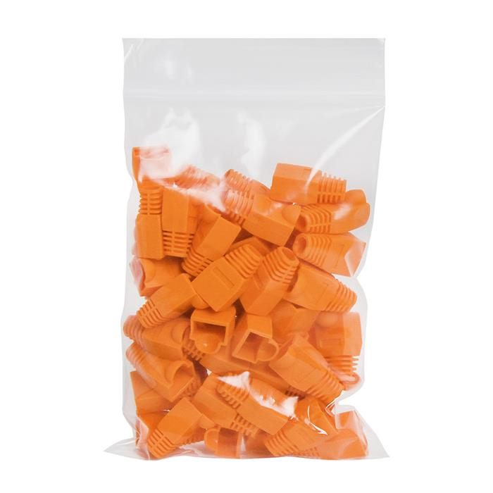 RJ45 Color Coded Strain Relief Boots 50pcs - Orange