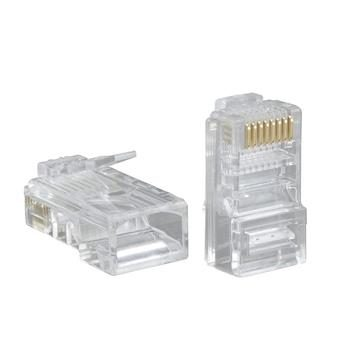 RJ45 Modular Pugs Cat5e Solid - 100 Pack
