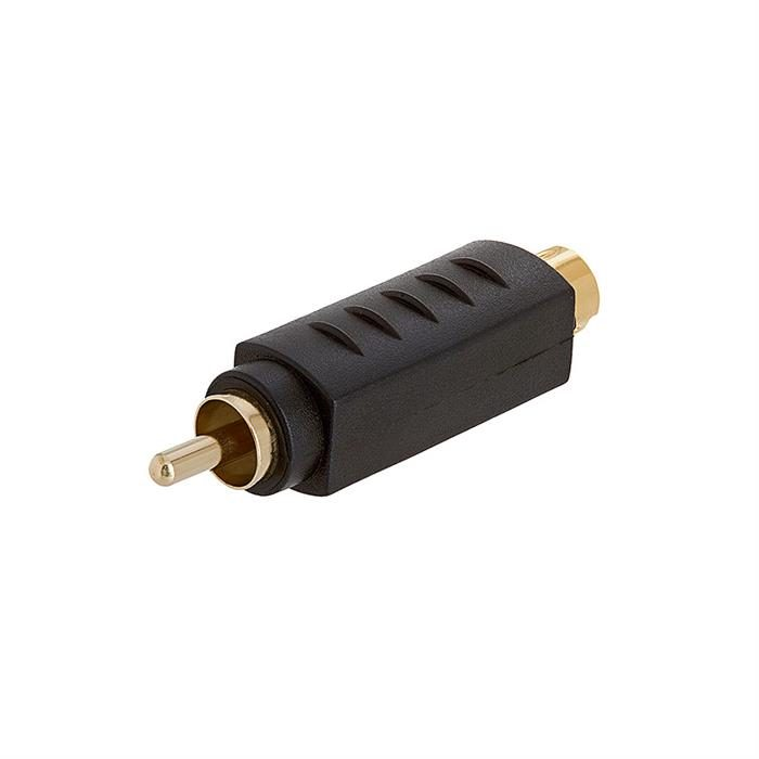 S-VHS 4Pin Plug to RCA Plug Adapter