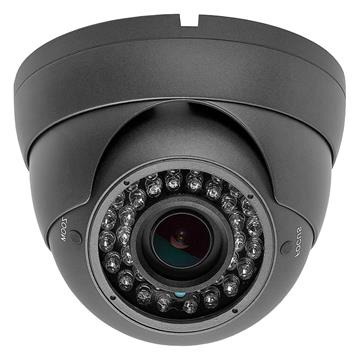Security Indoor/Outdoor Dome Camera 1000TVL (Dark Gray) 36IR - 2.8-12mm Varifocal