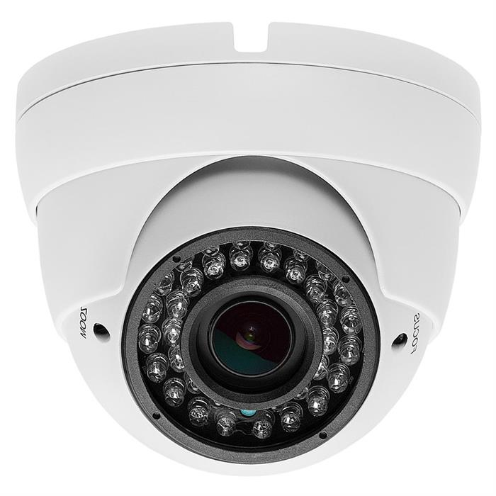 Security Indoor/Outdoor Dome Camera 1000TVL White 36IR - 2.8-12mm Varifocal