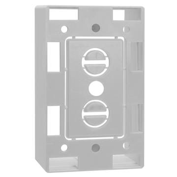 Surface Mount Junction Box for Single-gang Wall Plates - White
