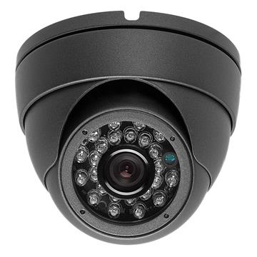Surveillance Indoor/Outdoor Security Dome Camera 700TVL 3.6mm Dark Gray 24IR CCTV