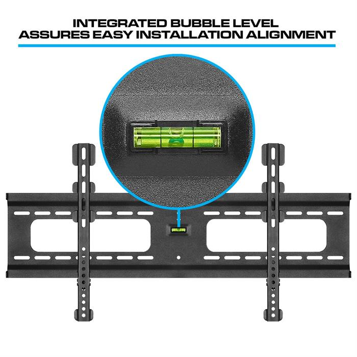Integrated Bubble Level Assures Easy Installation Alignment