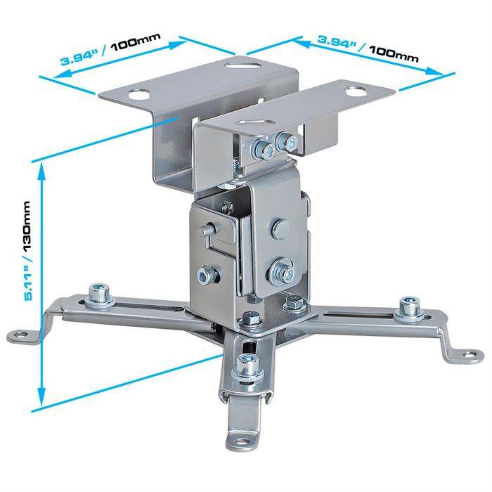 Dimensions - Universal Projector Ceiling Mount