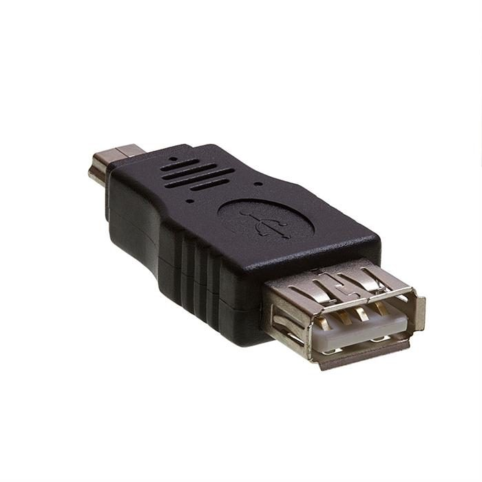 USB 2.0 A Female to Mini B 5-Pin Male Adapter