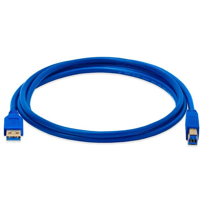 USB 3.0 A Male to B Male cable gold-plated - 6 Feet