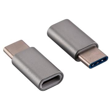 USB-C Adapter, USB Type C (male) to Micro USB (female) Adapter for Data Syncing and Charging, Space Gray