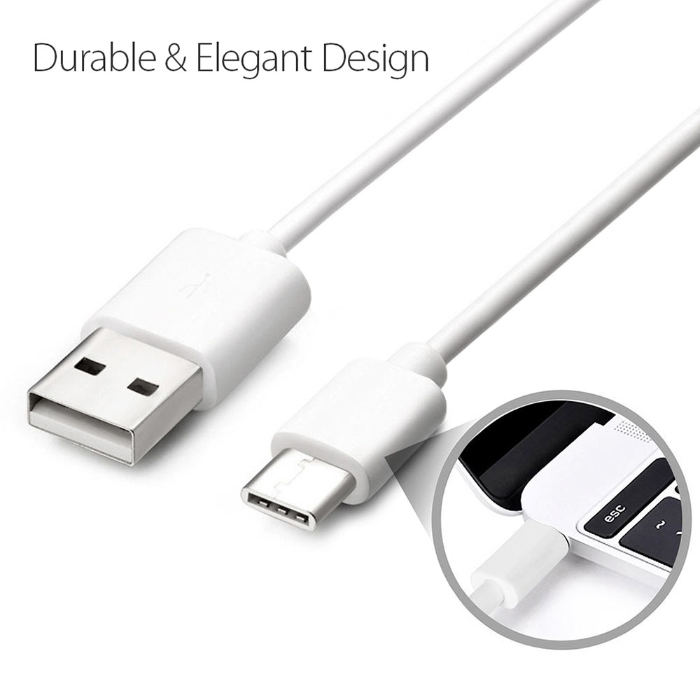 usb cable 2 0 usb a to usb c usb type c data charge cable 3 feet white. Black Bedroom Furniture Sets. Home Design Ideas